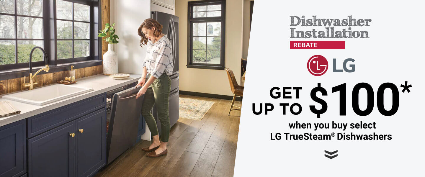 LG Dishwasher Install Rebate Offer